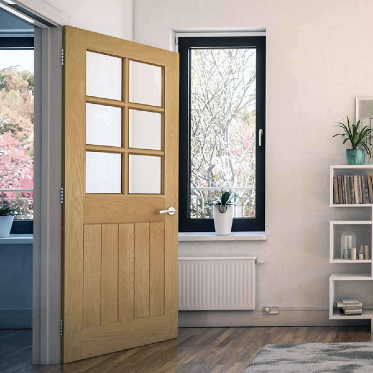 Ely 6l oak glazed lifestyle websters Image by Websters Timber