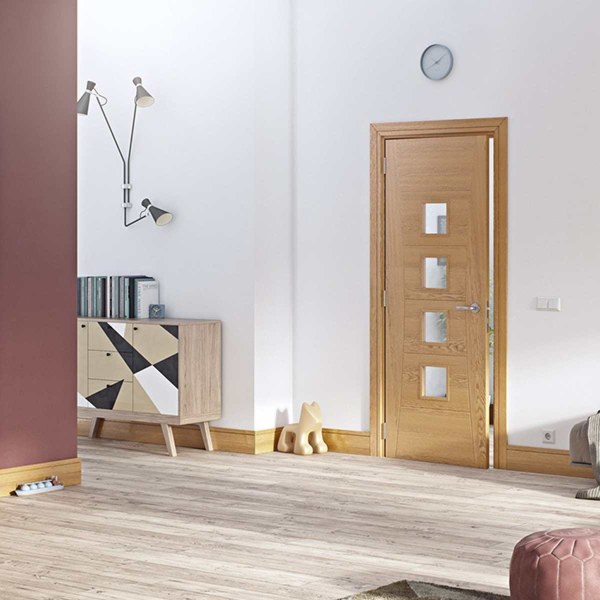 Pamplona oak glazed lifestyle websters Image by Websters Timber