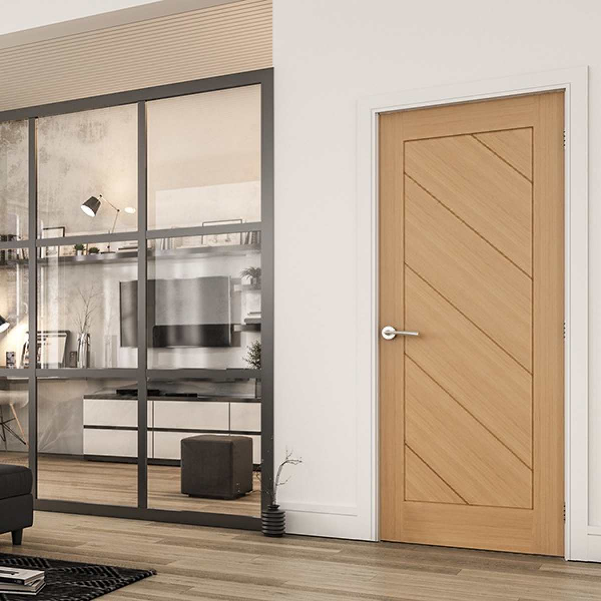 Torino oak interior door lifestyle websters Image by Websters Timber